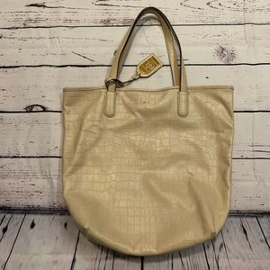 Ralph Lauren Cream Cow Leather Tote